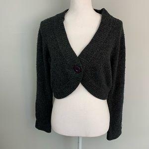 Maurice's black chunky knit bolero sweater